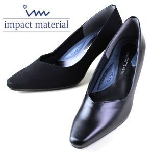 インパクトマテリアル impact material 6620 スムース 6630 ドークレ レディース パンプス リクルート フォーマル ビジネス 黒パンプス washington