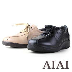AIAI 600 レディースコンフォートシューズ ブラック ベージュ レディース ウォーキング カジュアル washington