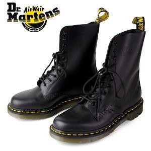 ドクターマーチン Dr.Martens 1490 10EYE BOOT BLACK SMOOTH 10092001 10ホール レディース メンズ|washington