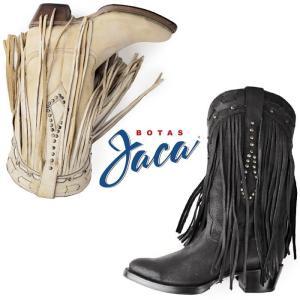 Botas Jaca ボッタス ハカ 靴 レディース 48001 ウエスタン ブーツ フリンジ スタッズ 本革 セール washington