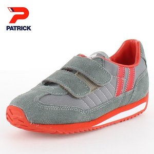 PATRICK パトリック MARATHON-V GRY GY-7524 マラソン・ベルクロ GRY EN7524 キッズ スニーカー 日本製