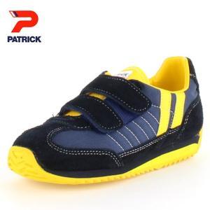 PATRICK パトリック MARATHON-V NVY NV-7702 マラソン・ベルクロ EN7702キッズ スニーカー ネイビー 日本製