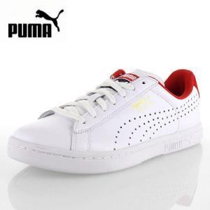 PUMA プーマ COURT STAR CRFTD コートスターCRFTD 359977-04 59977-WR63  メンズ レディース スニーカー 天然皮革 ホワイトレッド セール|washington