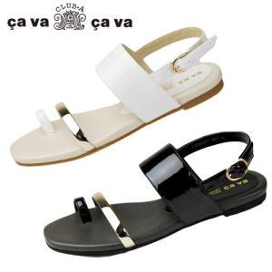 cavacava サヴァサヴァ 靴 7305251 トング フラット サンダル エナメル バックストラップ セール|washington