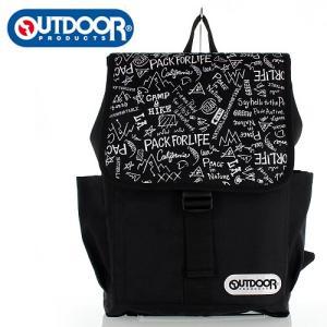 OUTDOOR PRODUCTS アウトドアプロダクツ 22409721 ブラック グラフィティ柄 デイバッグ リュック バッグ デイバッグ|washington