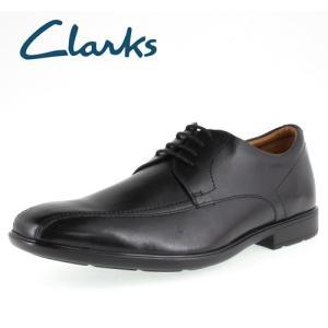 クラークス メンズ Clarks Gosworth Over 406E ゴスワースオーバー Black Leather 正規品 ビジネスシューズ セール