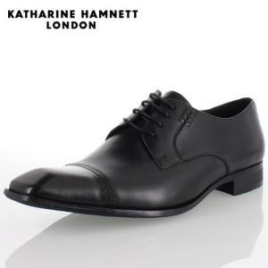 KATHARINE HAMNETT LONDON キャサリンハムネット 3967 BLACK メンズ 本革 ドレスシューズ ビジネス 外羽根ストレートチップ|washington