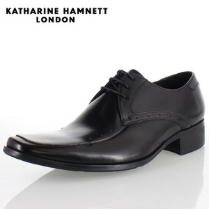 KATHARINE HAMNETT LONDON キャサリンハムネット 3977 BLACK メンズ 本革 ドレスシューズ ビジネス 外羽根Uチップ washington