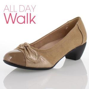 ALL DAY Walk オールデイウォーク 靴 ALD380 パンプス 歩きやすい ふんわり ローヒール 脱げにくい 柔らかい 低反発 インソール オーク レディース セール|washington