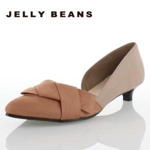 JELLY BEANS ジェリービーンズ 3101-PK パンプス レディース ポインテッドトゥ サイドカット ピンク