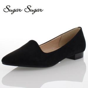 Sugar Sugar シュガーシュガー 3815-1S パンプス ポインテッドトゥ シンプル ローヒール 履きやすい ブラック washington