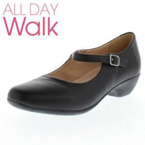 ALL DAY Walk 019 ALD0190 パンプス 歩きやすい ふんわり ローヒール 脱げにくい 柔らかい 低反発 インソール 20km歩ける ブラック セール|washington