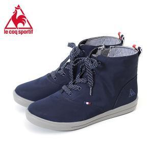 le coq sportif ルコックスポルティフ レディース 靴 ブーツ テルナブーツ SK MID ネイビー 消臭機能付 防水設計 軽量 紐靴|washington