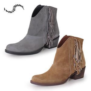 INDIVIDUAL インディヴィジュアル ラボキゴシ 靴 6165 ウエスタンブーツ ショート フリンジ スエード レディース セール|washington