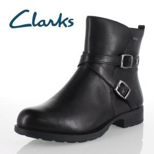 clarks クラークス 靴 930 Cheshuntbe Gtx チェスハントビー GORE-TEX ゴアテックス ジョッキーブーツ クロスベルト ブラック レザー レディース セール|washington