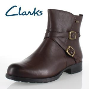 clarks クラークス 靴 930 Cheshuntbe Gtx チェスハントビー GORE-TEX ゴアテックス ジョッキーブーツ クロスベルト ダークブラウン レザー レディース セール|washington