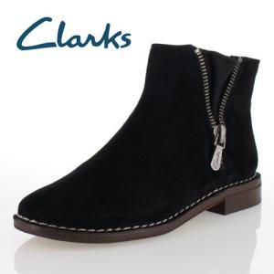 clarks クラークス 靴 933 Cabaret Ruby キャバレールビー ショートブーツ ブラック スエード レディース|washington