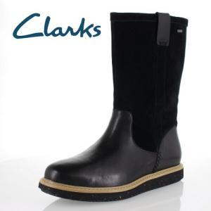 clarks クラークス 靴 935 GlickField GTX グリックフィールド ゴアテックス 完全防水 ショートブーツ ブラック コンビ スエード レディース