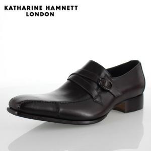 KATHARINE HAMNETT LONDON キャサリンハムネット 31501 メンズ ビジネスシューズ ダークブラウン|washington