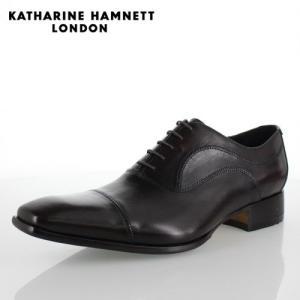 KATHARINE HAMNETT LONDON キャサリンハムネット 31504 メンズ ビジネスシューズ ダークブラウン|washington