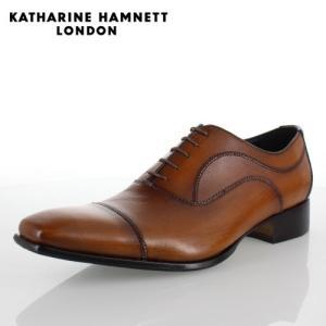 KATHARINE HAMNETT LONDON キャサリンハムネット 31504 メンズ ビジネスシューズ ブラウン|washington