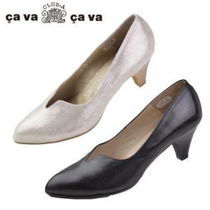 cavacava サヴァサヴァ 靴 1800641 パンプス ローヒール メタリック 本革 スリット ポインテッドトゥ|washington
