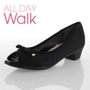 ALL DAY Walk オールデイウォーク 靴 ALD0630 パンプス ローヒール アキレス 歩きやすい 低反発 撥水 ブラック 黒 レディース|washington
