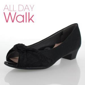 ALL DAY Walk オールデイウォーク 靴 ALD0650 パンプス ローヒール アキレス 歩きやすい 低反発 撥水  ブラック  レディース|washington
