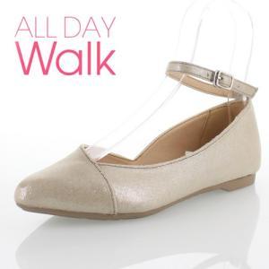 ALL DAY Walk オールデイウォーク 靴 ALD0590 パンプス ローヒール アキレス 撥水 ポインテッドトゥ ストラップ シルバー レディース セール|washington