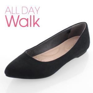 ALL DAY Walk オールデイウォーク 靴 ALD0600 パンプス ローヒール アキレス 撥水 ポインテッドトゥ ブラック 黒 レディース セール|washington