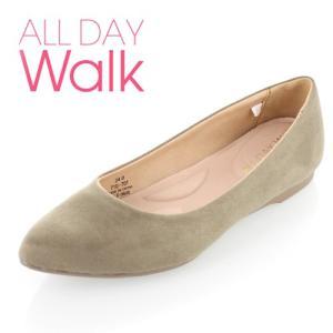 ALL DAY Walk オールデイウォーク 靴 ALD0600 パンプス ローヒール アキレス 撥水 ポインテッドトゥ トープ ベージュ レディース セール|washington