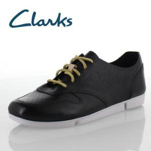 Clarks クラークス Tri Actor トライアクター 012G B ブラック スムースレザー レースアップ シューズ レディース セール|washington