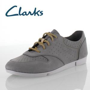 Clarks クラークス Tri Actor トライアクター 012G GRYS グレー/ブルー ヌバックレザー レースアップ シューズ レディース セール|washington