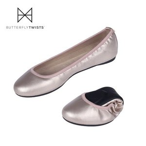 Butterflytwists SOPHIA バタフライツイスト ソフィア B01001 ROS/GLD 靴 携帯用 スリッパ 折りたたみ シューズ シンプル ピンク セール washington
