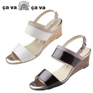 cavacava サヴァサヴァ 靴 サンダル 3720201 ウェッジソール コルク バックストラップ ベルト メタリック 日本製 セール|washington