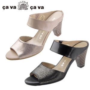 cavacava サヴァサヴァ 靴 3720203 サンダル ヒール ミュール メタリック 本革 セール|washington