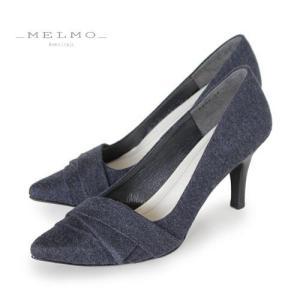 MELMO 靴 メルモ パンプス 7294 ネイビー 生地 フォーマル ゆったり 2E 入学式 入園式 卒業式 卒園式 セール|washington