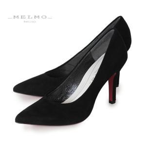 MELMO 靴 メルモ レッドソール パンプス 7451 ポインテッドトゥ ヒール ブラック 抗菌 防臭 本革 スエード|washington