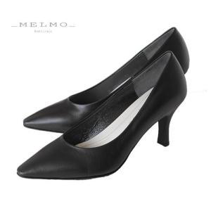 MELMO 靴 メルモ パンプス 7478 ブラック 天然皮革 フォーマル ゆったり 2E 入学式 入園式 卒業式 卒園式 セール|washington
