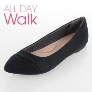 all day walk オールデイウォーク 靴 ALD0760 076 パンプス アキレス ポインテッドトゥ ローヒール 2E 黒 ブラック レディース セール|washington