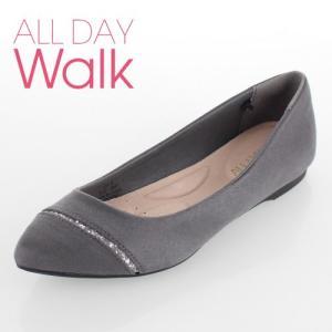 all day walk オールデイウォーク 靴 ALD0760 076 パンプス Achilles ポインテッドトゥ ローヒール 2E グレー レディース セール|washington