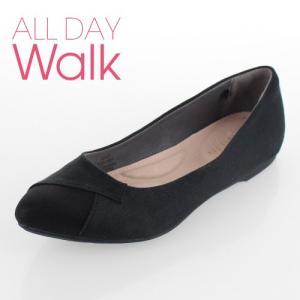 all day walk オールデイウォーク 靴 ALD0770 077 パンプス Achilles ポインテッドトゥ ローヒール 2E 黒 ブラック レディース セール washington