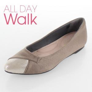 all day walk オールデイウォーク 靴 ALD0770 077 パンプス Achilles ポインテッドトゥ 2E ベージュ グレージュ レディース セール|washington