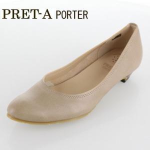 PRET-A PORTER プレタポルテ 靴 343 パンプス ストレッチ ローヒール ポインテッドトゥ カジュアル オーク ベージュ レディース|washington