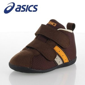 asics アシックス コンフィ FIRST MS FW ベビー ファーストシューズ TUF125-28 2本ベルト しっかりホールド ブラウン 子供靴|washington