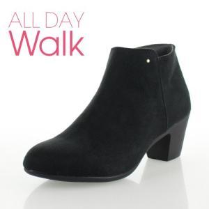 ALL DAY Walk オールデイウォーク 靴 00820 082 ショートブーツ あたたか 冬 2E 幅広 ヒール 黒 ブラック レディース セール|washington