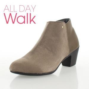 ALL DAY Walk オールデイウォーク 靴 00820 082 ショートブーツ あたたか 冬 2E 幅広 ヒールグレージュ レディース セール|washington