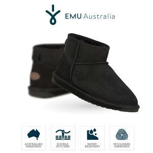 emu Australia エミュ ムートンブーツ スティンガー マイクロ W10937 撥水レディース ブラック 黒 Stinger Micro セール|washington