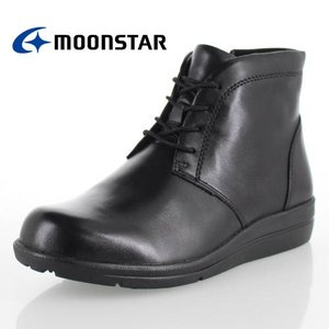 ムーンスター スポルス MOONSTAR SPORTH SP1777WP ブラック 3E 幅広 防水設計 防滑ソール ブーツ 黒 レディース セール|washington
