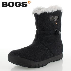 ボグス BOGS 72106 B-Moc Wool ブラック BLACK レディース ブーツ 防水 ウォータープルーフ ボア 保温 あったか セール|washington